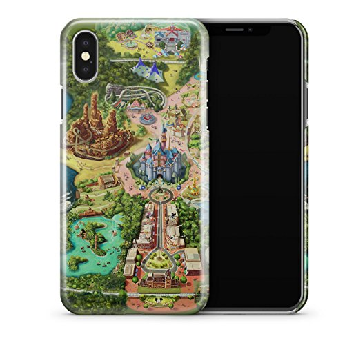 Queen of Cases Hard Shell Phone Case - Disneyland Colorful - Adventure Disneyland Map