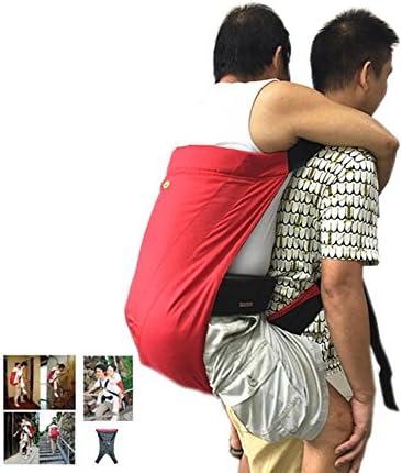 XYLUCKY Wasserdichte Doppelschicht Oxford Tuch Behinderte Treppen Transfer Aid Strap, Patient Transfer Harness Sling (Schwarz + Rot)