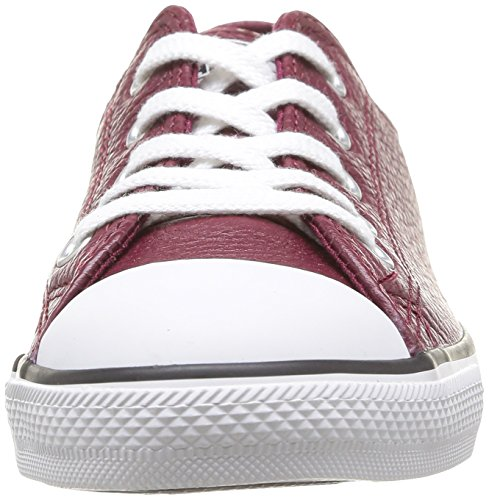 mode adulte mixte Baskets Rouge Leath Dainty Ox Converse Bordeaux qRwZAFIfR