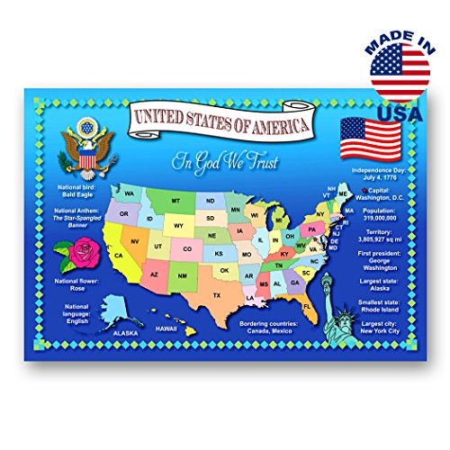 UNITED STATES MAP postcard set of 20 identical postcards. Quality post card pack depicting US map. Made in ()
