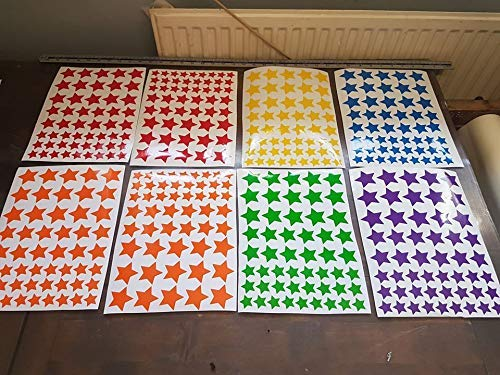 Rainbow Trail window stickers hearts, stars or mickey heads 8 A4 sheets per pack