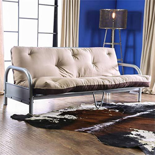 Furniture of America Ella 70' x 50'' Futon Mattress in Khaki and Brown by Furniture of America