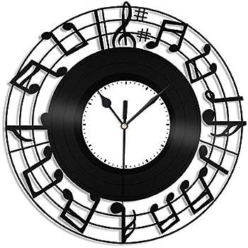 Amazoncom Creative Motion Clef Music Clock Home Kitchen