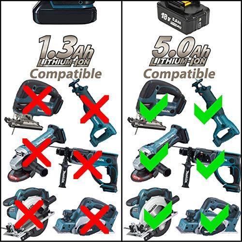 Sostituzione della batteria al litio Surepp 18V 5.0Ah compatibile con Makita BL1830 BL1830B BL1840 BL1840B BL1850 BL1850B BL1860B BL1890 BL1815 BL1825 BL1835