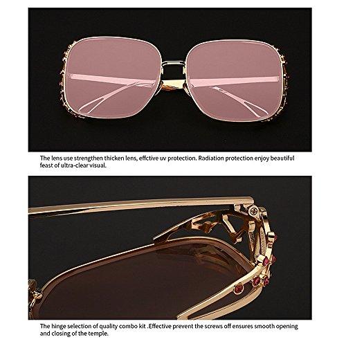Vacances D'été Femmes Protection Couleur Plage Plein C4 Cristal GWF pour Cadre Soleil Lunettes C7 Gracieux UV Conduire De pour w48qO