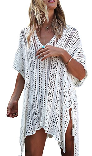 Women Summer Crochet Beachwear White - 8