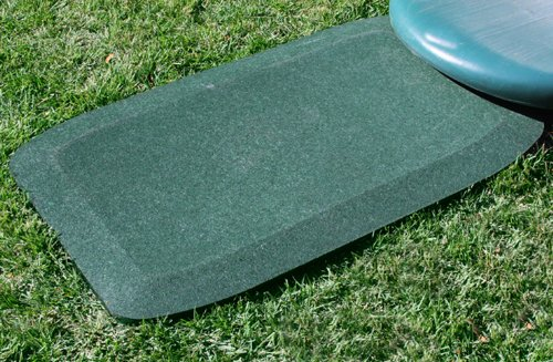 (KIDWISE 1.5 Inch Fanny Pads - Green Rubber Safety Mats (Set of 2) )
