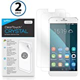 Huawei Honor 6 Plus Screen Protector, BoxWave [ClearTouch Crystal (2-Pack)] HD Film Skin - Shields From Scratches for Huawei Honor 6 Plus