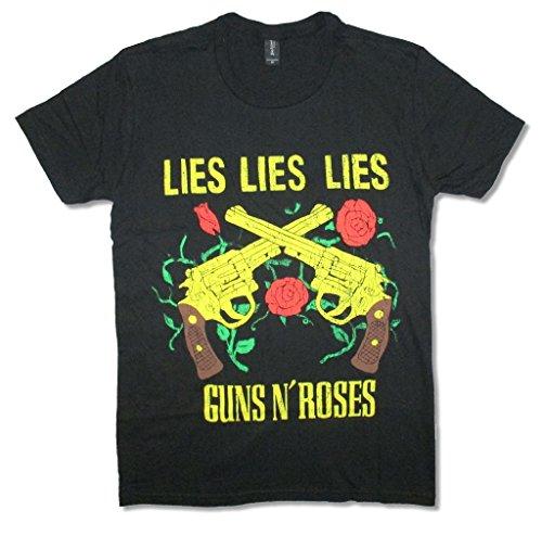 Guns N Roses Lies Lies Lies Adult Black T shirt (Tour Lies)
