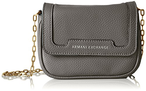 Crossbody Patina Pebbled Armani Pearl Leather Faux A Exchange Smoked X w4RzYFZxF