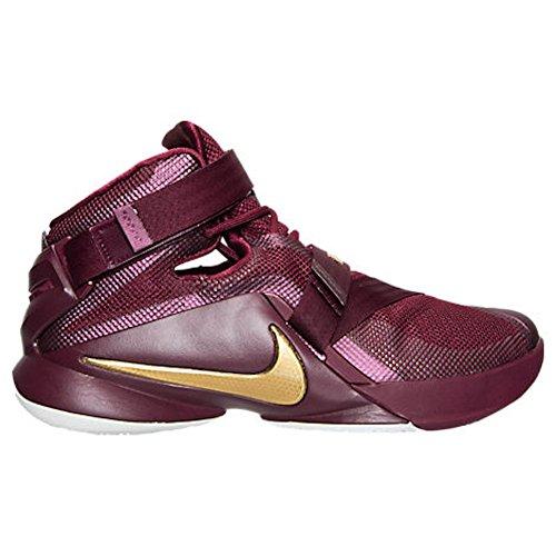 Nike Lebron Soldier Ix - Calzado Deportivo para hombre Deep Garnet/Gold