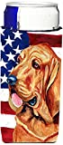 USA American Flag with Bloodhound Ultra Beverage Insulators for slim cans LH9016MUK