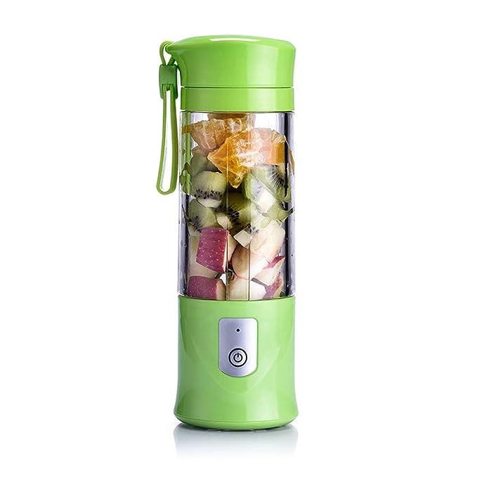 Rziioo USB Electric Safety Juicer Cup,Fruit Juice Mixer,Juicing Mixing Crush Ice Blender Mixer,Green
