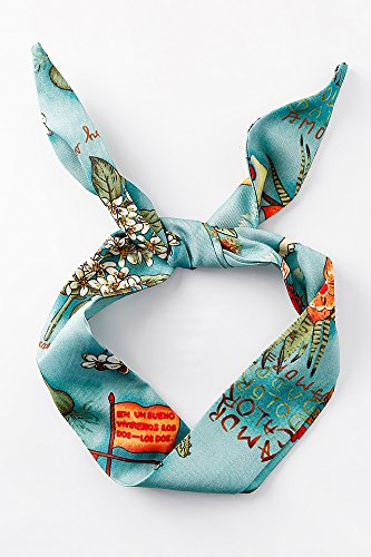 Generic original_wild_wind_art_in_Europe Fashion_ retro _edge silk Scarf shawl scarves scarf _tie_packages_are_made_with_rabbit_ earrings - Edge Scarf
