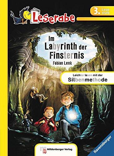 Leserabe – Im Labyrinth der Finsternis: Lesestufe 3 - Leichter Lesen mit der Silbenmethode (Leserabe - 3. Lesestufe / schwarz/grau silbiert)