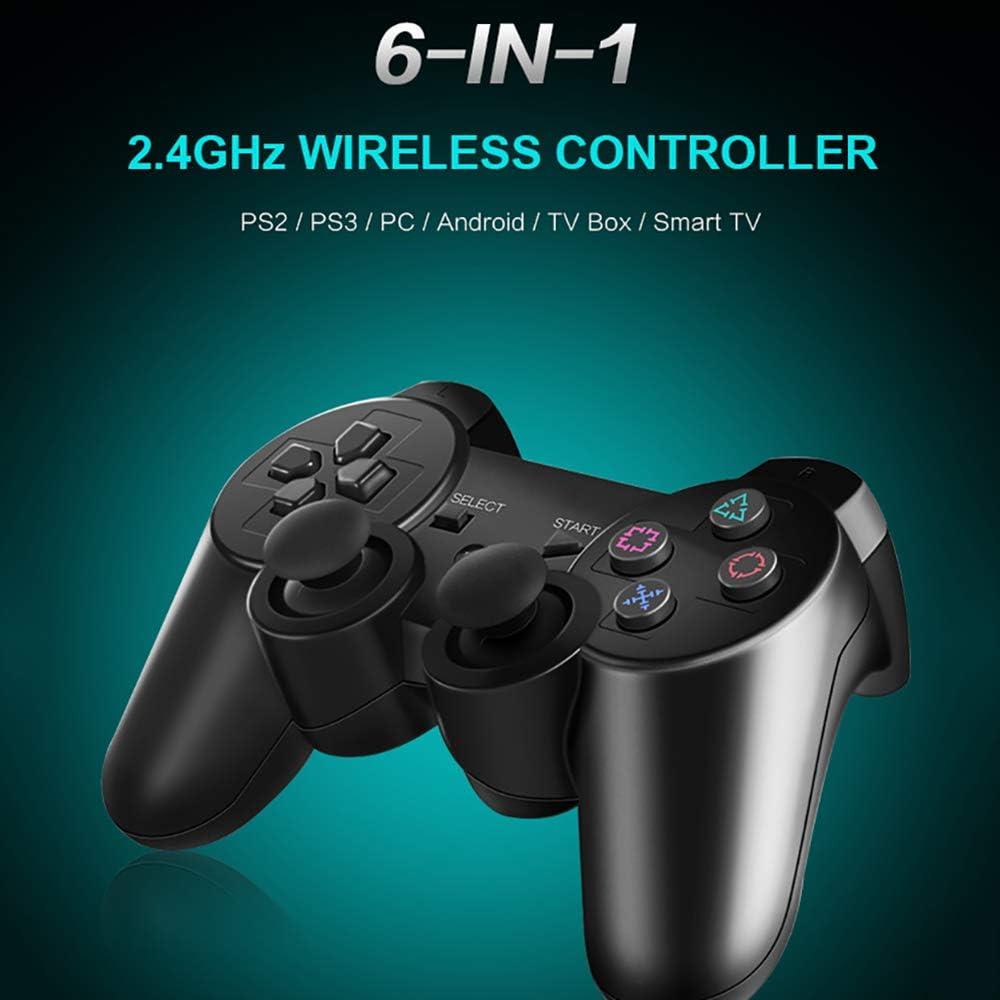 Portable 2.4G sans Fil Gamepad Manette De Jeu PC avec Dual Shock Vibration Compatible PC Android Phone Fonction OTG TV Box Smart TV Host PS3 Manette De Jeu Controller