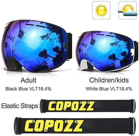 YUERUII 親子スキーゴーグル2パックセット スノーモービル 球面ダブルレンズ UV400 紫外線カット 多機能オートバイスキーゴーグル ゴーグルメガネ アウトドアスポーツ保護メガネ 耐久性に優れた 目を防護する