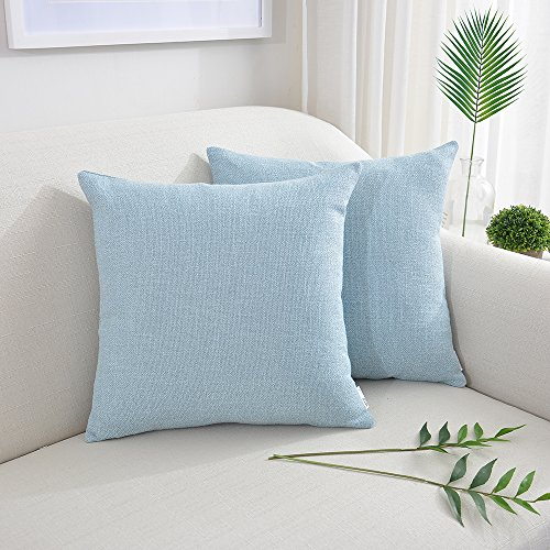 NATUS WEAVER Soft Home Decoration Linen Pillow Cover Throw Cushion Cover Pillowcase Euro Pillow Cases for Bed Kids Chair, 14