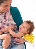 Slip-on Arm Nursing Pillow & Plush w/ Slip-Cover & Carry Bag 8.5 x 7 x 2.75 in