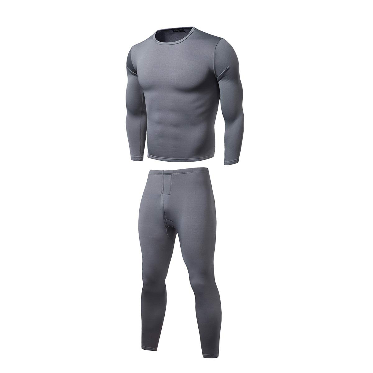 OUlike Mens 2ps Thermal Underware Fleece Thermos Warm Long Winter Set Top and Bottom