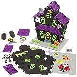 Kit créatif maison hantée 3D en mousse que les enfants pourront fabriquer, décorer et exposer pour Halloween