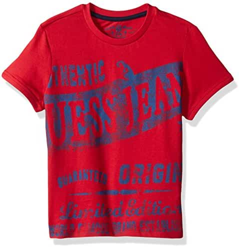 GUESS Little Boys' Short Sleeve Guess Jeans Graphic T-Shirt