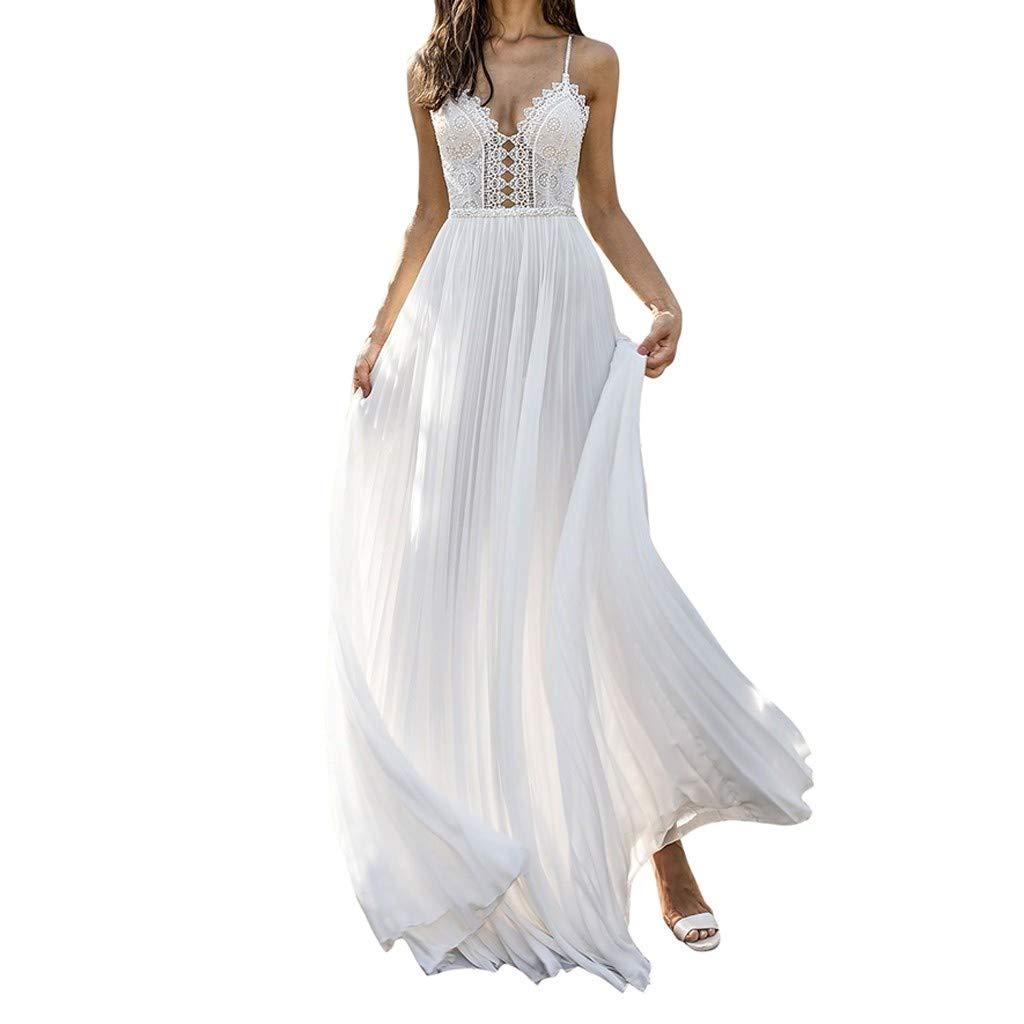 Lancy_Luna Beach Wedding Dresses for Bride,A Line Backless Boho Lace Wedding Dress Women Bridesmaid Party Sheath Dress