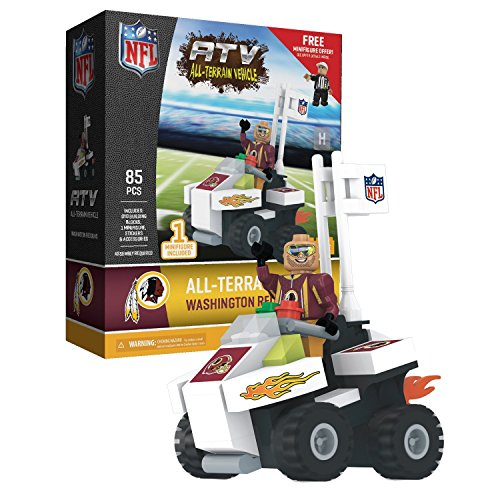 Washington Redskins NFL 4 Wheel ATV with Mascot OYO Mini Figure (Nfl Washington Redskins Locker Room)