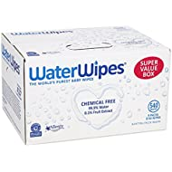 WaterWipes Sensitive Baby Wipes, Natural & Chemical-Free...