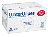 WaterWipes Sensitive Baby Wipes, Natural & Chemical-Free, 9 packs of 60 Count (540 Wipes) Image