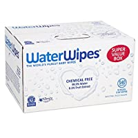 WaterWipes Sensitive Baby Wipes, Natural & Chemical-Free, 9 packs of 60 Count...