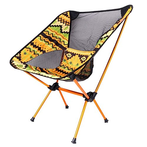 MIJORA-Aluminum Folding Camping Chair Seat For Outdoor Fishing Hiking Beach Picnic Tool(yellow) by MIJORA (Image #7)
