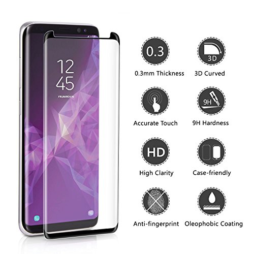 [2 - Pack] Samsung Galaxy S9 Plus Screen Protector, OLINKIT [9H Hardness][Anti-Fingerprint][Ultra-Clear][Bubble Free] Tempered Glass Screen Protector Galaxy S9 Plus by OLINKIT (Image #2)