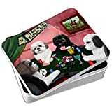 Home of Lhasa Apso 4 Dogs Playing Poker Photo Storage Tin