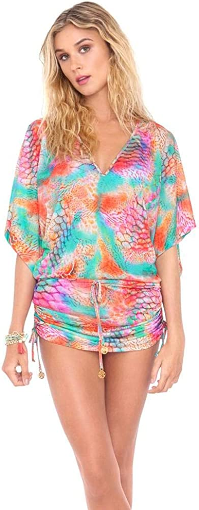Cabana V Neck Dress XS//Multicolor Luli Fama Libertad TORNASOL