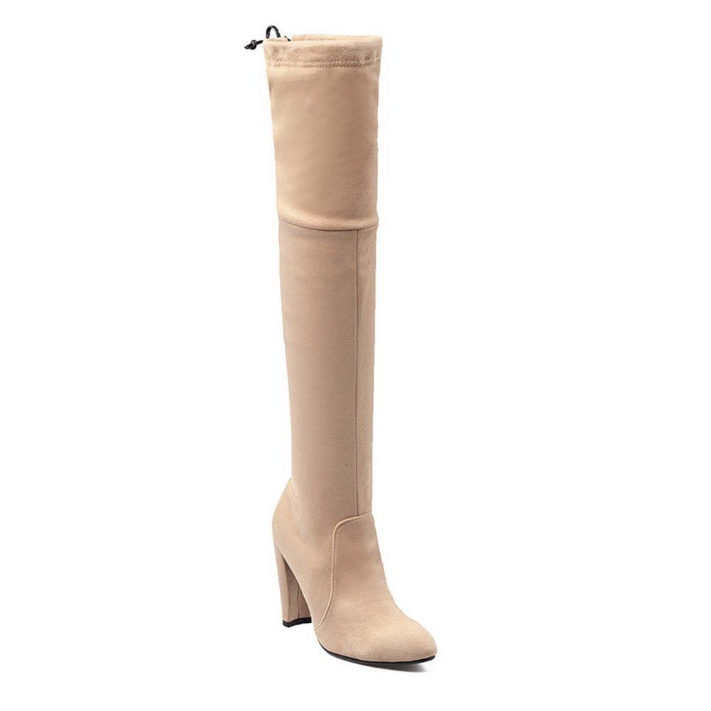 BalaMasa Womens Pull-On Boots Comfort Wool Boots