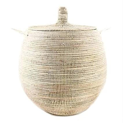 woven basket with lid. Large Woven Gourd Basket With Lid - Fair Trade Poduct R