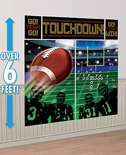 Sport Theme Party Ideas (football Happy Birthday Wall Decorating Scene Setter Kit)