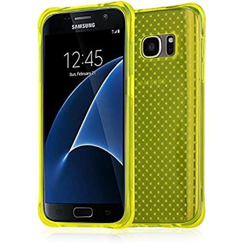 Galaxy S7 edge Case, TNI Stylish Hockey Case Soft TPU Shockproof Full Body Protection Case for Samsung Galaxy S7 edge Phone (Yellow) Sales