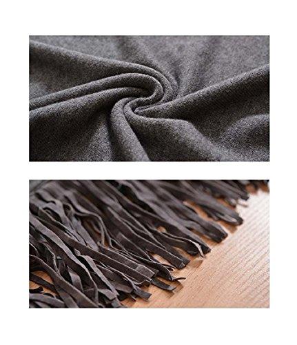 Mcdslrgo - Poncho - capa - para mujer gris