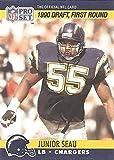 JUNIOR SEAU ROOKIE CARD - 1990 NFL PRO SET FIRST