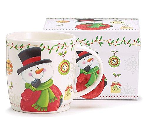 Christmas Snowman White Coffee Tea Mug ()