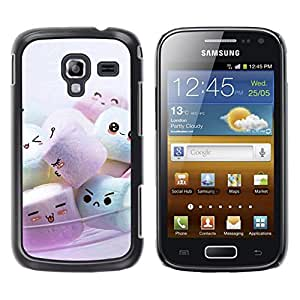 Exotic-Star ( Cute Marshmellow Friends ) Fundas Cover Cubre Hard Case Cover para Samsung Galaxy Ace 2 I8160 / Ace2 II XS7560M