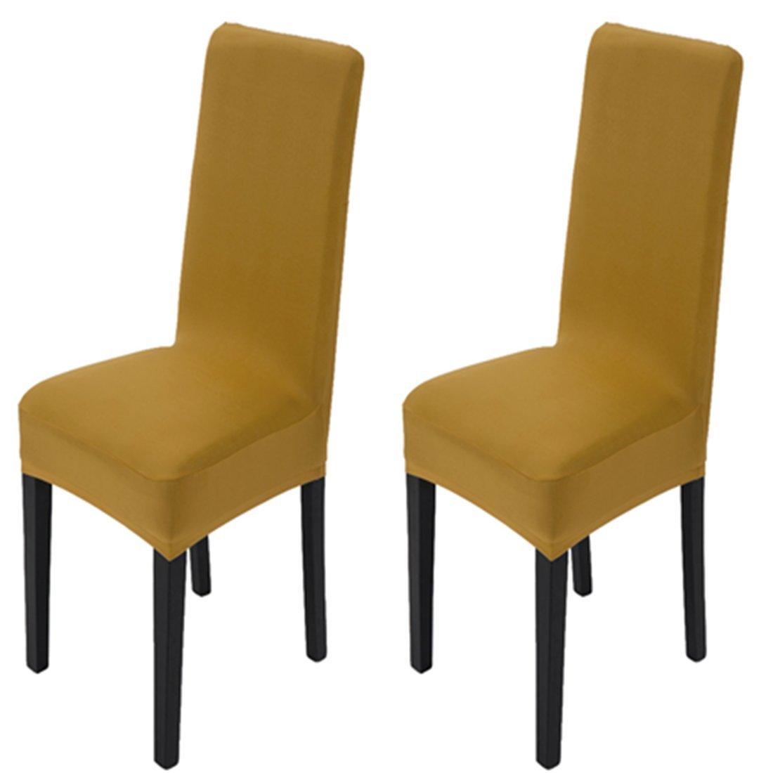 Housses de chaise de salle /à manger Maikehome Pure Couleur Spandex stretch teints Chaise de cuisine Housses pour h/ôtel Restaurant f/ête de mariage D/écor