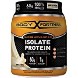 Body Fortress Super Advanced Isolate Protein, Vanilla Protein Powder Supplement Low Reduced Fat, Low & Carbohydrates, Low Sugar 1.33 lb. Jar