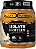 Body Fortress Super Advanced Whey Protein Isolate Powder, Great for Meal Replacement Shakes, Low Carb, Gluten Free, Vanilla, 1.5 lbs
