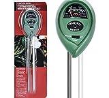 Tools & Hardware : Soil pH Meter, 3-in-1 Soil Tester Moisture Meter, Light and PH acidity Tester, Plant Soil Tester Kit, Great For Garden, Farm, Lawn, Indoor & Outdoor (No Battery needed)