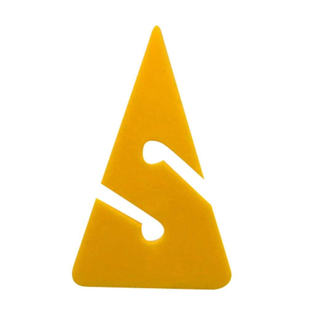 10 Pieces Compact Triangle Shaped PVC Dive Directional Rope Line Arrow Markers for Scuba Cave and Wreck Diving Safety Gear Yellow