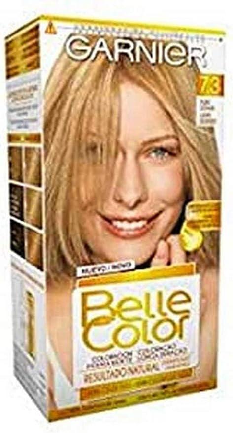 Garnier Belle Color Coloración de aspecto natural y cobertura completa de canas con aceite de germen de trigo - Rubio Dorado 7.3
