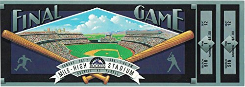 COLORADO ROCKIES 1994 FINAL GAME AT MILE HIGH STADIUM TICKET VS PADRES